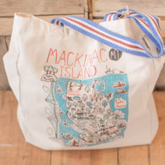Mackinac Island Map Tote