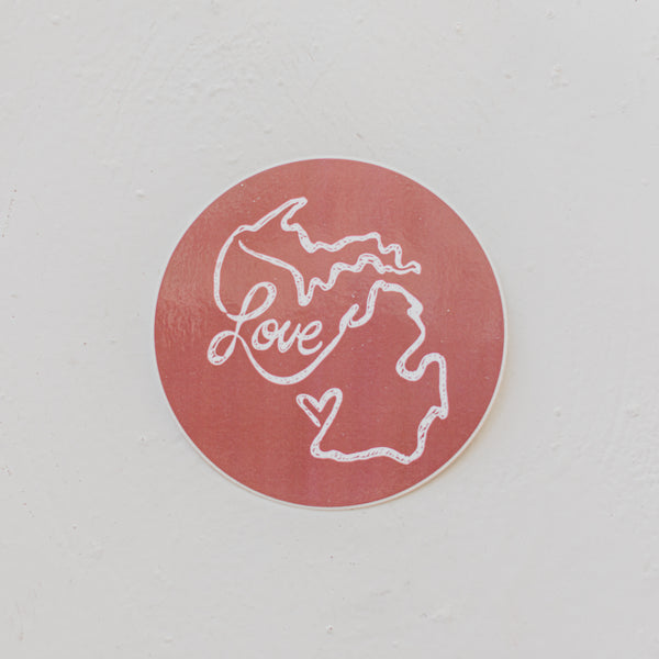 Michigan Love Sticker
