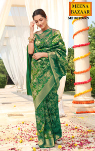 Green Silk Brocade Saree