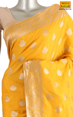 Load image into Gallery viewer, Mustard Silk Saree