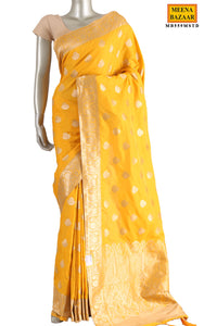 Mustard Silk Saree
