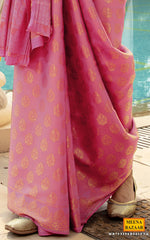 Load image into Gallery viewer, Pink Silk Woven Zari Saree