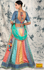 Load image into Gallery viewer, Multicolour Silk & Zari Lehenga