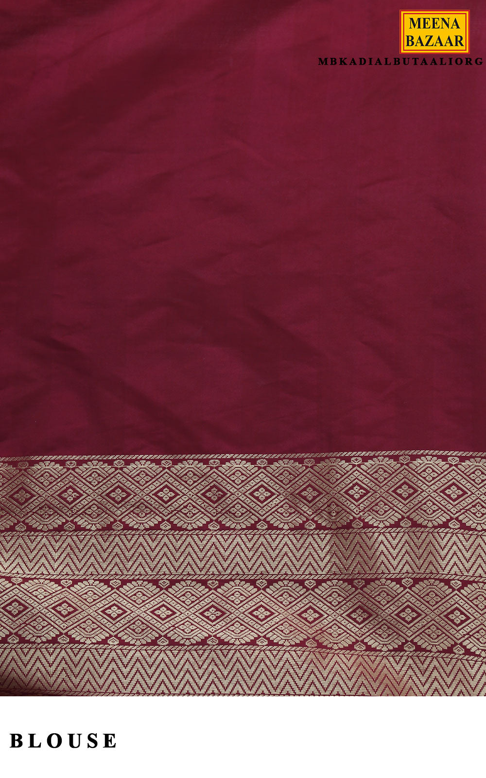Orange & Maroon Silk Saree