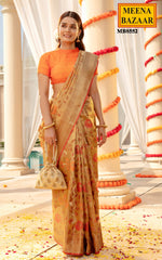 Load image into Gallery viewer, Tussar Weaving Tissue Saree