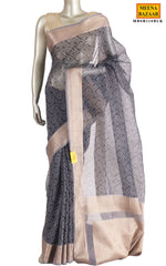 Load image into Gallery viewer, Black Cotton Saree