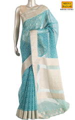 Load image into Gallery viewer, Firozi Cotton Saree