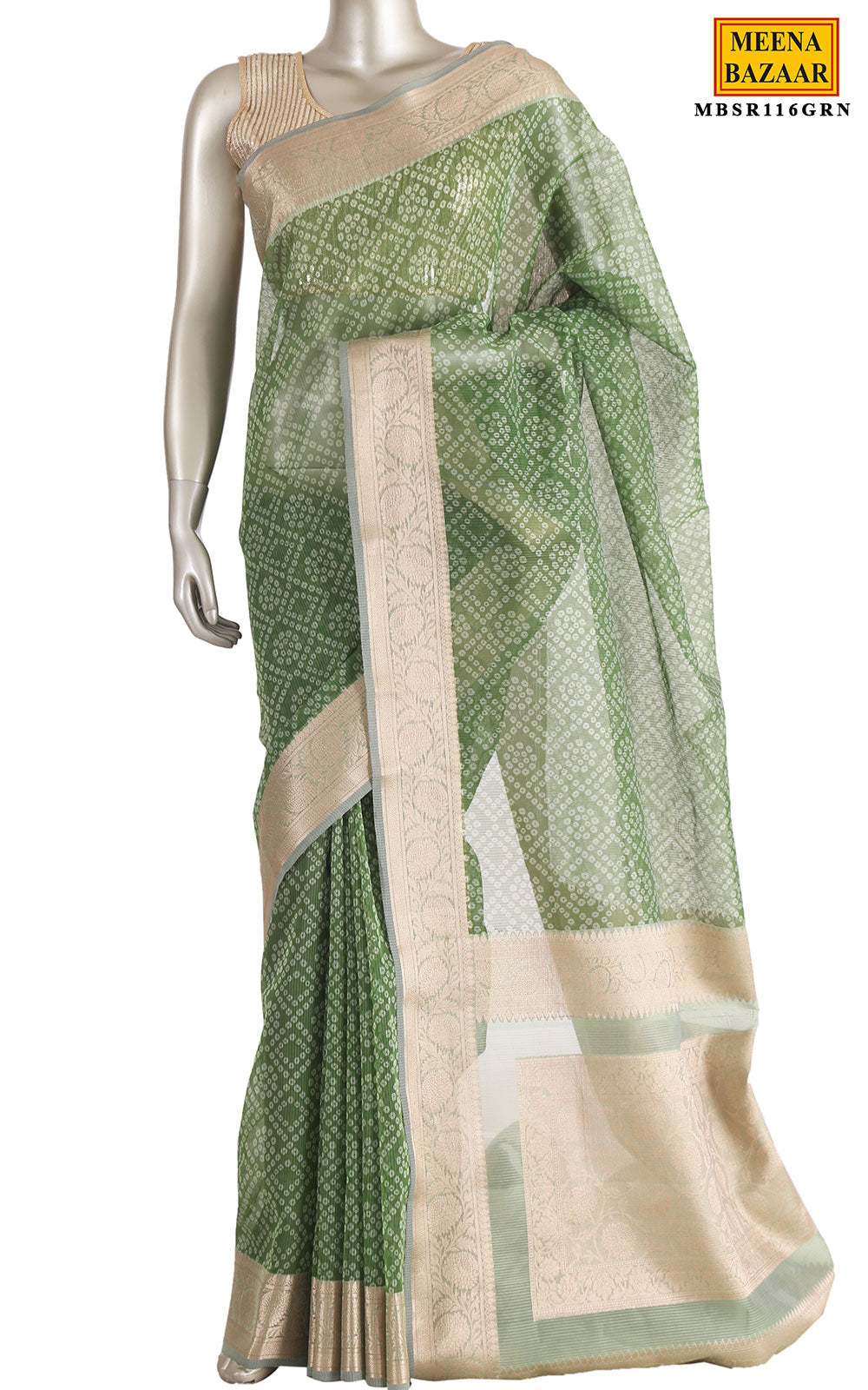 Green Cotton Saree