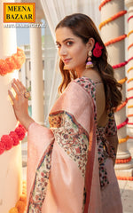 Load image into Gallery viewer, Pink Tussar Floral Saree