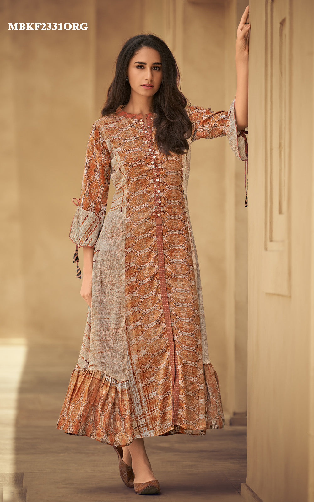 Rust Orange Kurti Dress
