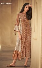 Load image into Gallery viewer, Rust Orange Kurti Dress
