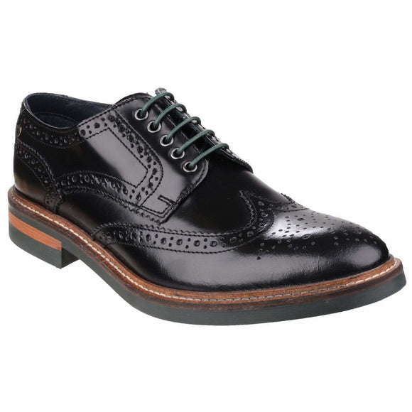 Base London Woburn Hi-Shine Brogue Shoe