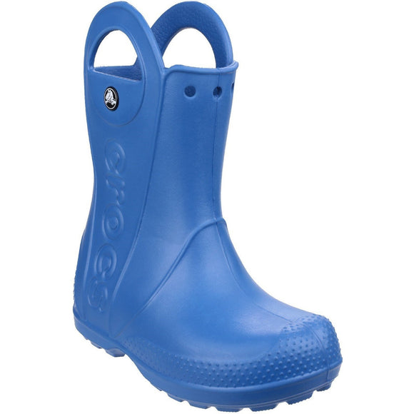 Crocs Kids Handle-It Pull-on Rainboot - Blue
