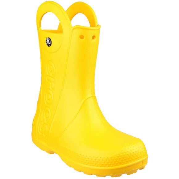 Crocs Kids Handle-It Pull-on Rainboot - Yellow