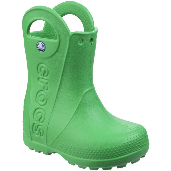 Crocs Kids Handle-It Pull-on Rainboot - Green