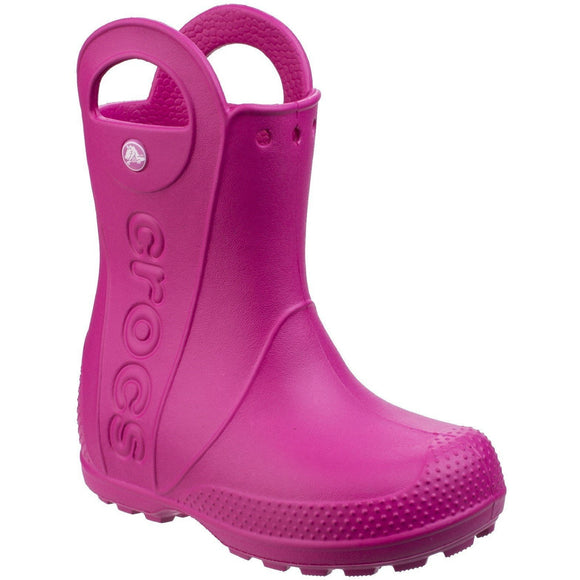 Crocs Kids Handle-It Pull-on Rainboot - Pink