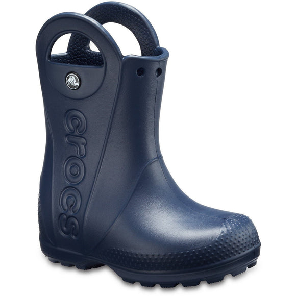 Crocs Kids Handle-It Pull-on Rainboot - Navy