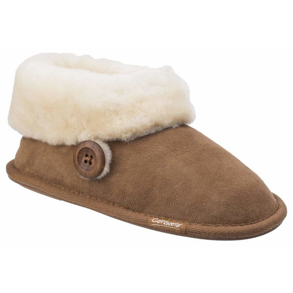Cotswold Wotton Sheepskin Bootie Slippers
