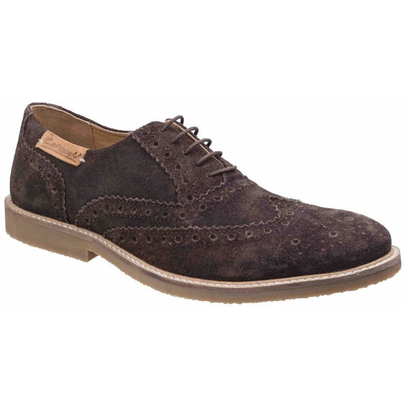Cotswold Chatsworth Suede Wingtip Shoes - Clearance