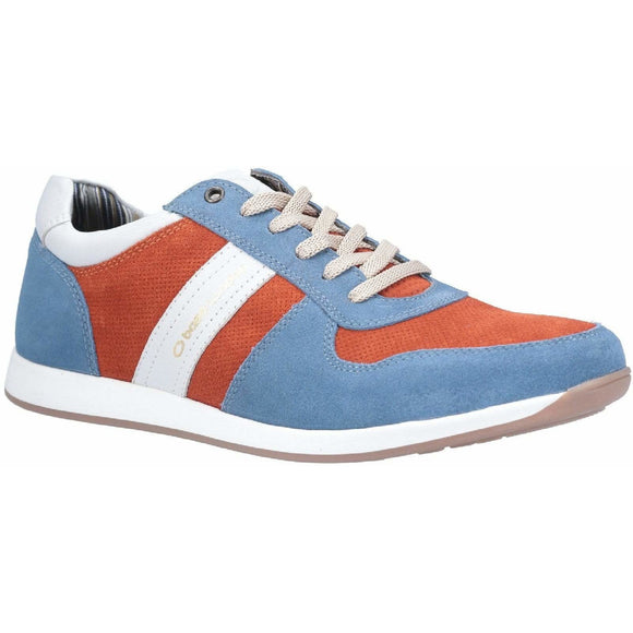 Base London Eclipse Suede Lace Up Trainer - Clearance