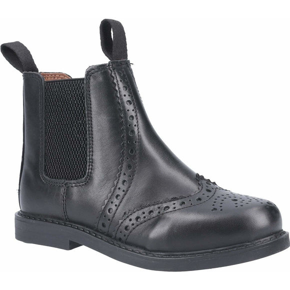 Cotswold Nympsfield Kids Brogue Pull On Chelsea Boots