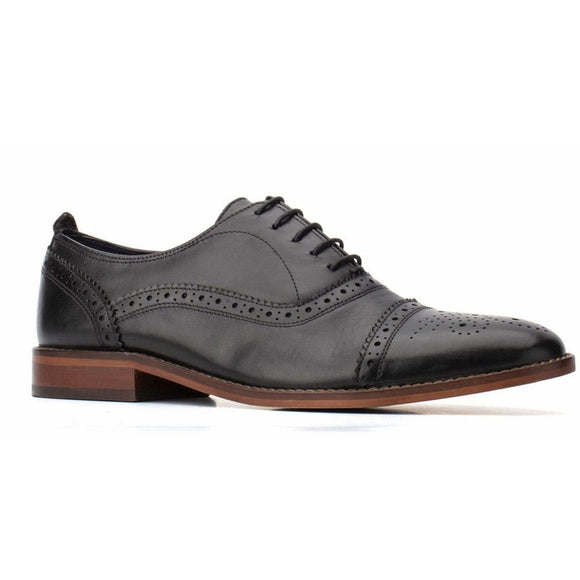 Base London Cast Waxy Lace Up Brogue Shoe