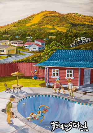 Hoodlum Pool Party by Peter Pierce