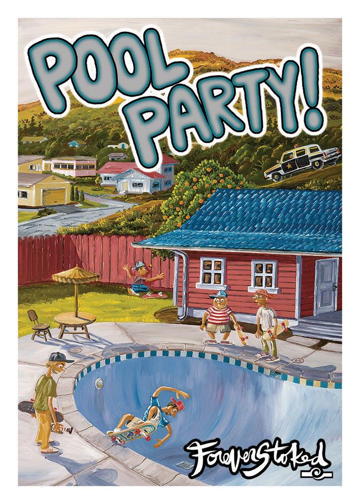 Hoodlum Pool Party - CARD