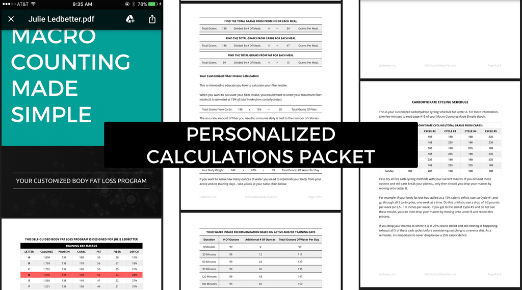 Macro Counting Made Simple Personalized Calculations Packet