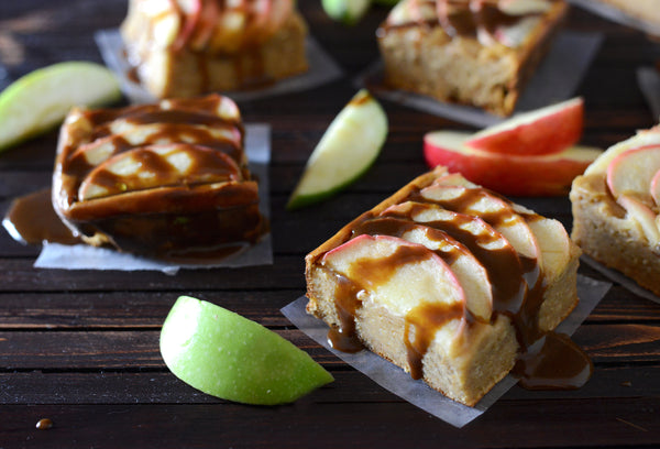 Salted Caramel Apple Snickerdoodle Cake