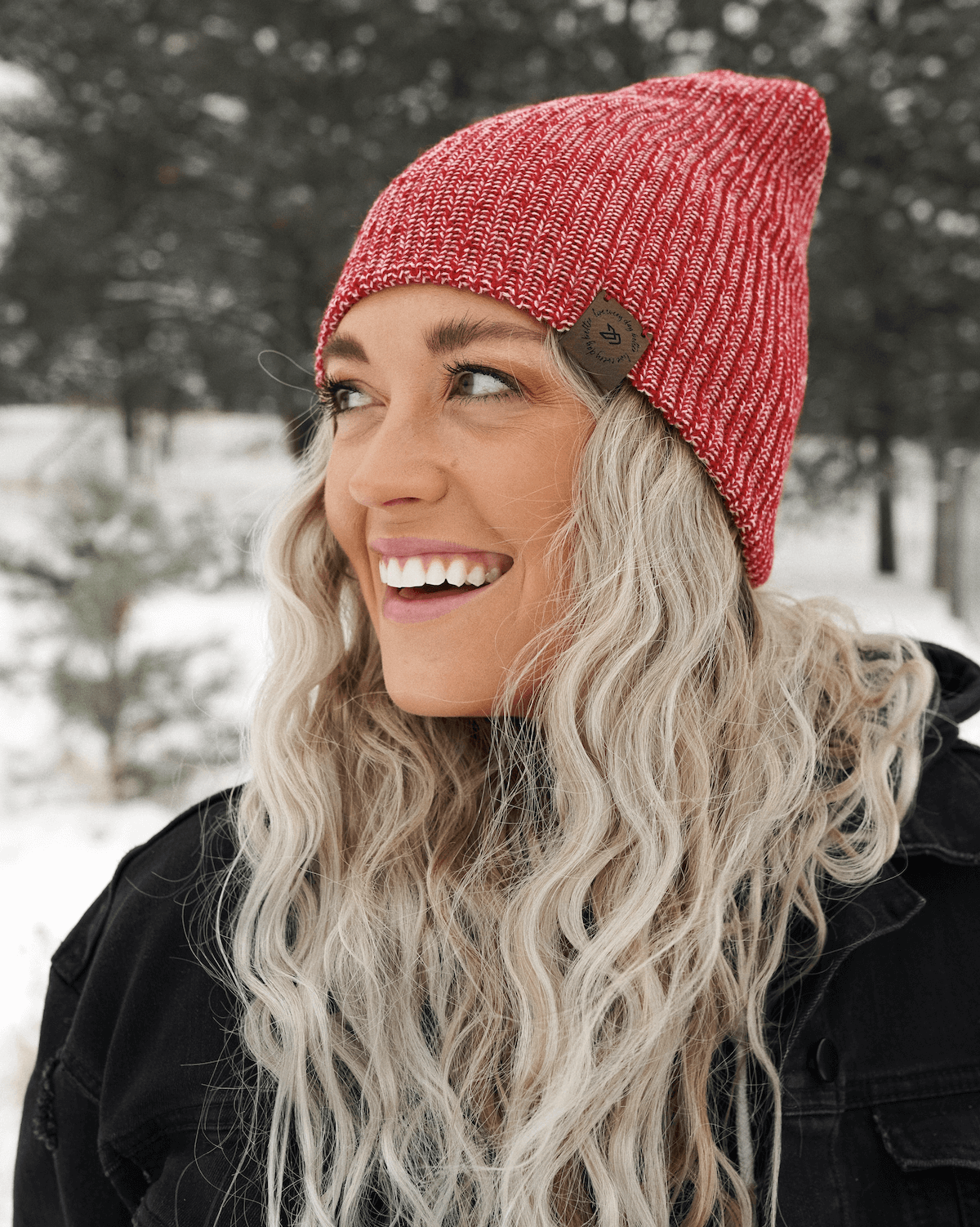 Winter Beanie - Cranberry