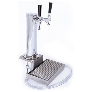Clamp on cocktail tap tower and regulator (2 faucet)