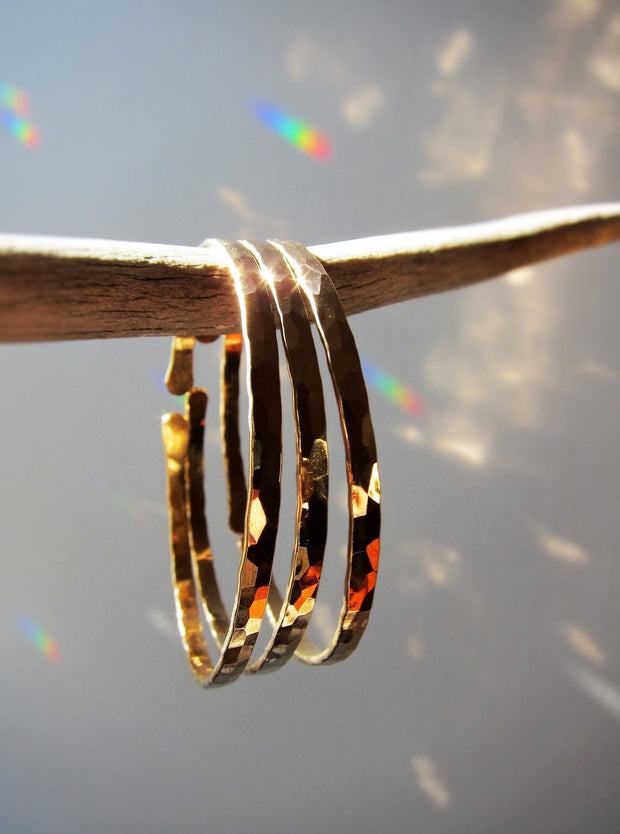 Gold Filled Bangles (Thick) Set Of 3
