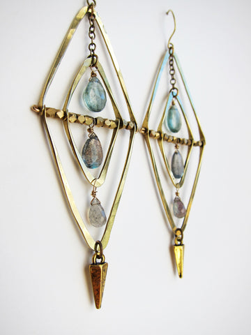 God's Eye Earrings Sage