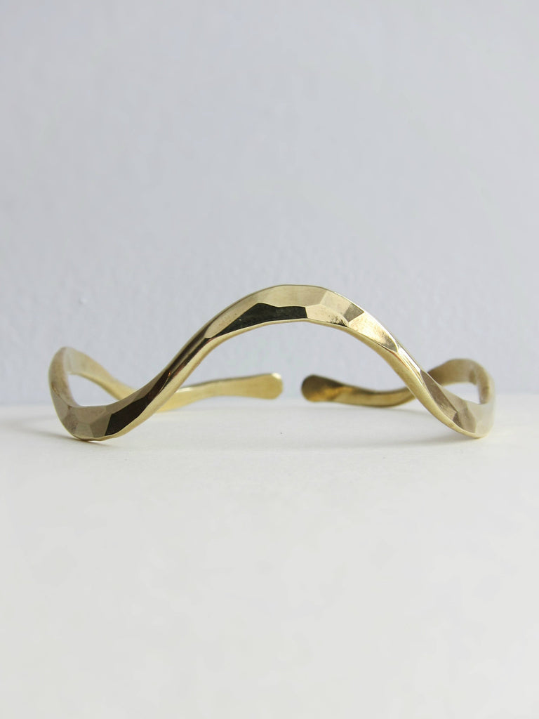 Solid Brass Flow Bangle