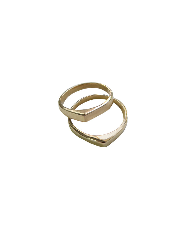 Bronze On Point Ring