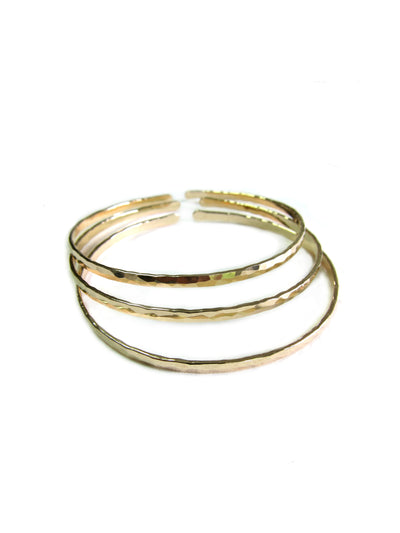 Skinny Gold Bangles Set Of Three