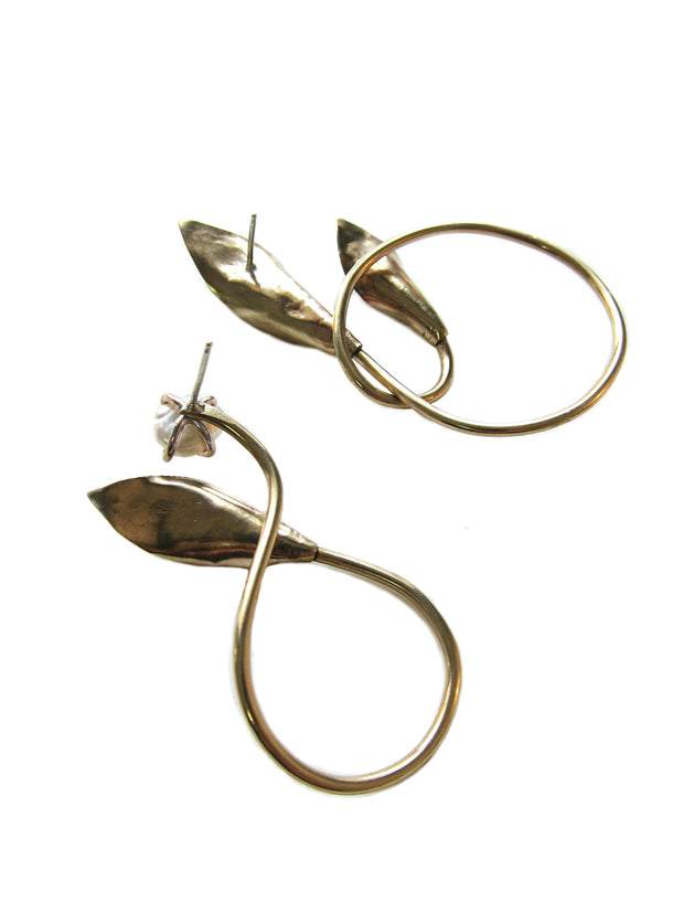 Bronze Lily Love Earrings