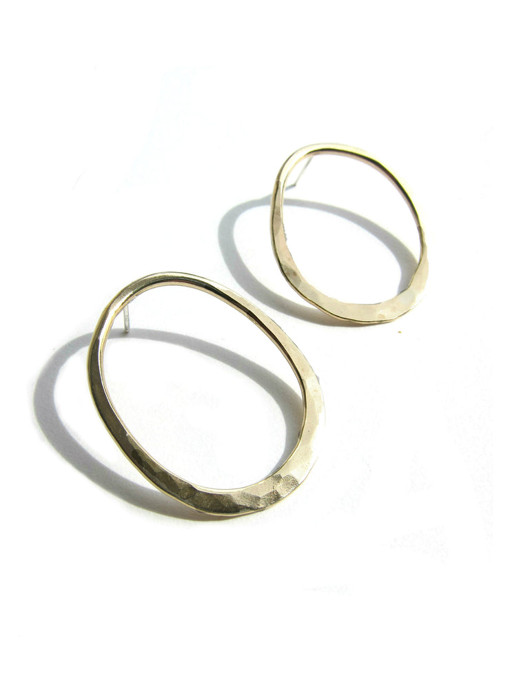 Bronze Oval Hoops