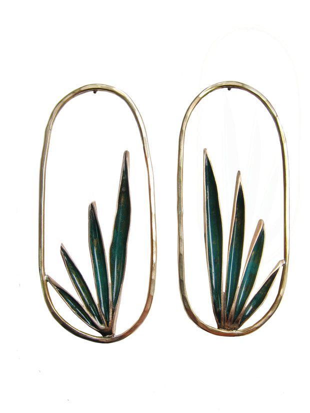 Eucalypt Agave Earrings