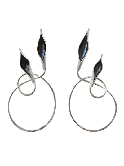 Obsidian Love Or Leave Earrings