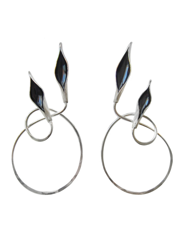 Obsidian Twin Flame Earrings