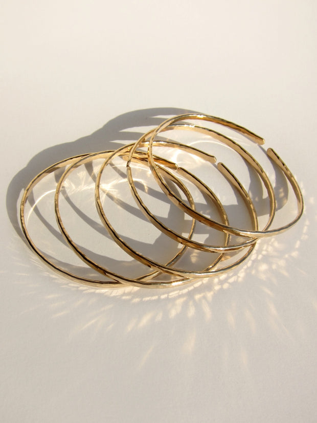 Gold Filled Bangles (Skinny)