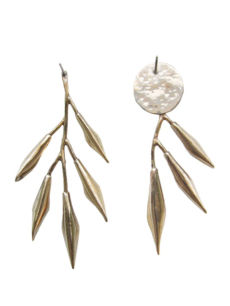 Eucalypt Moon Earrings