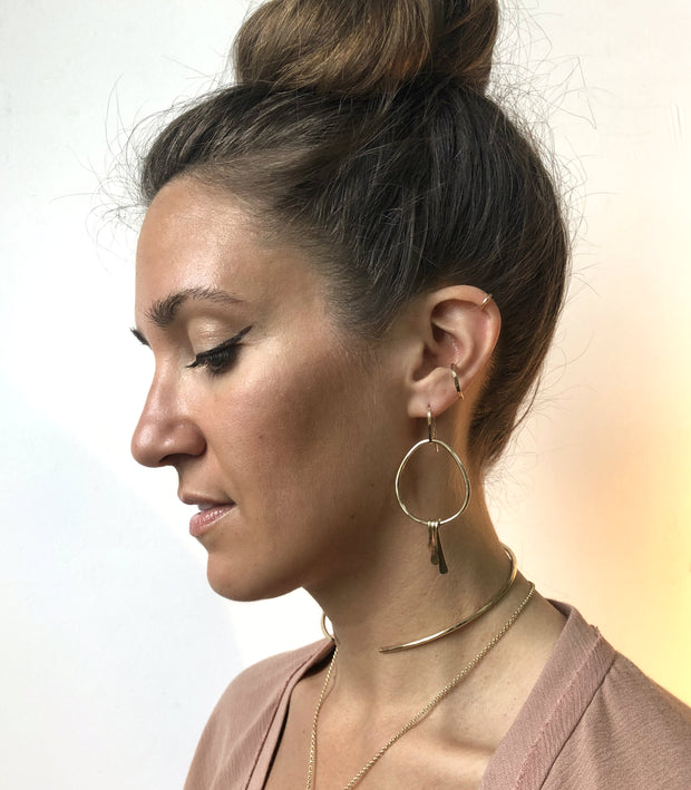 Bronze Fringe Hoops