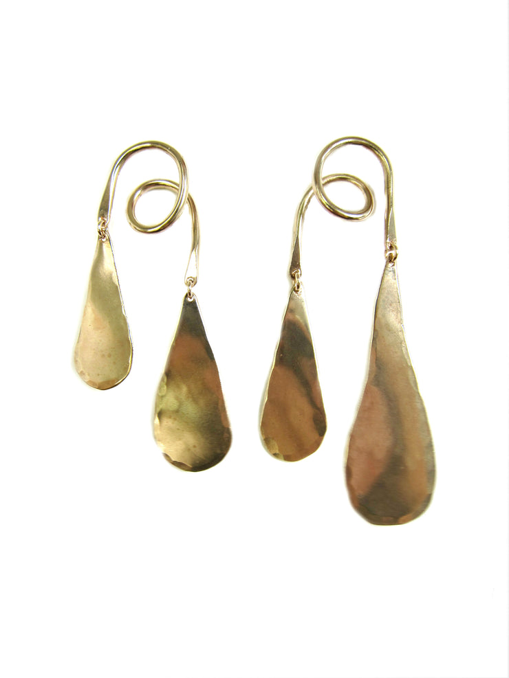 Bronze Liquid Gold Earrings