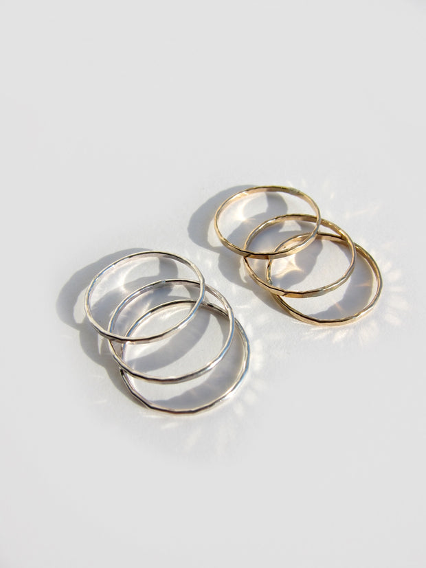 Classic Gold Filled Stack Rings