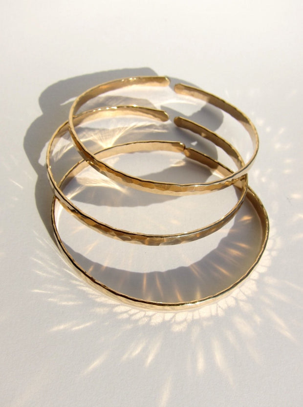 Gold Filled Bangles (Thick)