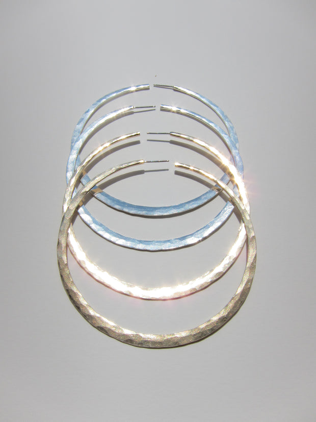 Hammered Hoops Choose your size