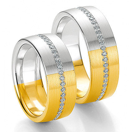 Men's 14k White and Yellow Gold Wedding Ring (115-21)